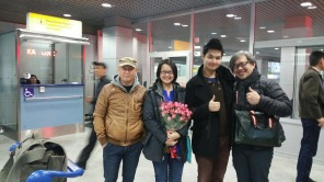 Tutor Yuet Ling at Almaty International Airport