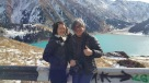 This is Almaty Lakes up the mountains. Tian Shan behind us.